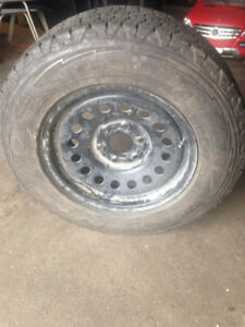 LT 245 70 17 One spare tire and rims for GMC Chevy