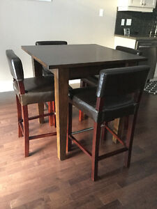 """(6) Brown Leather 26"""" Stools"""