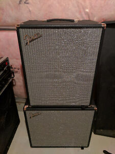 Fender Rumble 500 bass amp and 115 extension cab