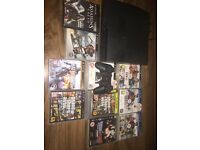 PS3 Slim 500GB hard drive with 10 games