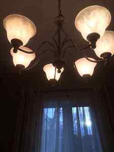 Six lights chandelier lights set