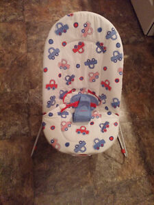 Vibrating Bouncer Chair -Washable Padding,Harness,Battery Incl
