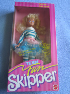 1987 Party Teen Fun Skipper Barbie doll