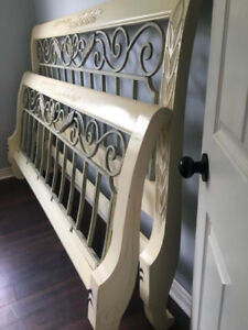 King bed headboard footboard side rails and 2 night stands