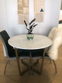 FREE local delivery 2 Chrome Charcoal Modern Dining chairs.