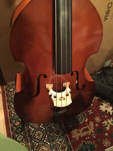 Brand new!! ¾ double bass, sold with travel case and French bow,