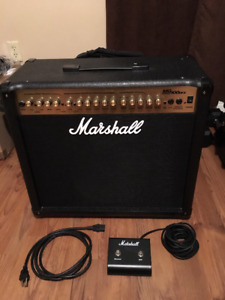 Marshall MG100DFX combo guitar amp with channel switcher