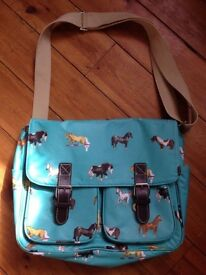 Milly Green bag with horses