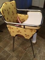 Vintage 1950's high chair