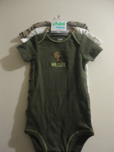 3 Diaper Shirts Monkey/Camo themed New W/ Tags