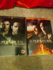 Supernatural dvd full series 10+ 11 both for £10