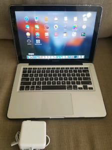 "Macbook pro 13"" with protective case and charger"