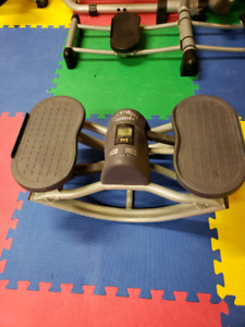 Rock n roll stepper exercise equipment