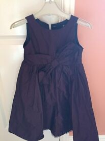 Burgundy party dress aged 3-4