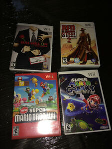 4 Rare Wii Games 2 are Mario Bachelor Brand new & Red Steel 2 Windsor Region Ontario image 1