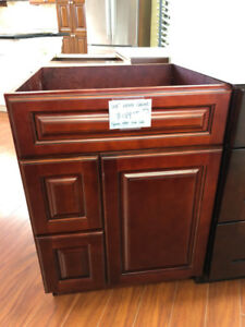 "CLEARANCE!! 24"" solid wood vanity cabinet $189 only!!"