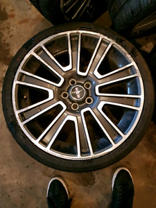 """19"""" inch mustang rims 5x114.3 with new tires"""