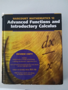 Harcourt Advanced Functions & Introductory Calculus Grade 12