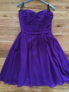 Size 8 Purple Chiffon Dress - Alfred Angelo