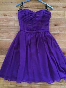 Size 8 Purple Chiffon Dress - Alfred Angelo