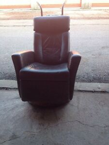 Urban barn leather reclining chair (brown)