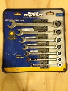 GEARWRENCH Wrench Set - ratcheting - maximum.