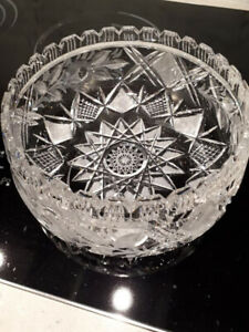 Vintage Pinwheel Crystal salad or fruit bowl