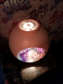 Pink fish tank