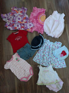 Baby Girl Summer Clothes - 6-9 Months