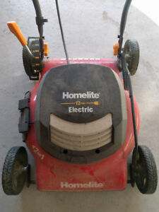 "18"" Homelite 12amp electric lawnmower"