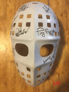 Vintage Cooper HM6 Mask signed by 18 Dryden, Bower, Parent, Espo