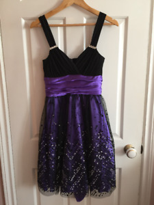 Purple and Black Semiformal/Formal Dress Size 4