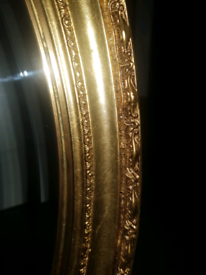 Gold antique style oval mirror
