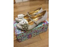 Irregular Choice Bridal Shoes Size 8 'miss low paisley floral'