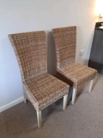 2 Straw IKEA Dining/Garden chairs