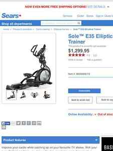 Practically new Elliptical Sole e35