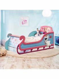 Frozen sleigh toddler bed