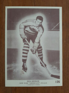 CARTE HOCKEY CARD 1940-41 OPC V301-2 BILL BENSON RC