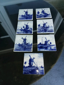 SET OF ANTIQUE DELFT DUTCH TILES