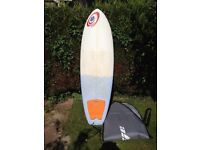 Guts HB2 surfboard and bag