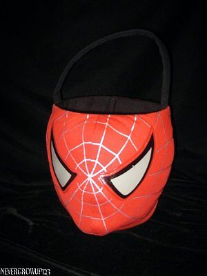 SPIDERMAN HALLOWEEN TRICK OR TREAT CANDY BUCKET~PAIL~2006~EUC