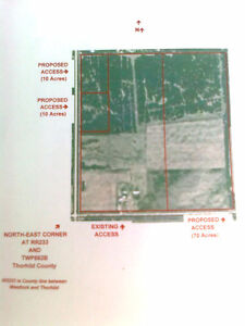 2 x 10 &  1x 70  Acres - Not in Subdivision - 45 min N  of Edm