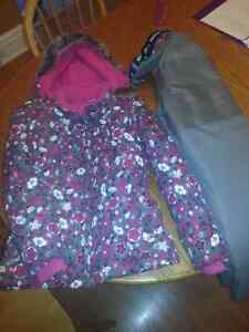 Girls Size 12 Winter Coat and Snowpants London Ontario image 1