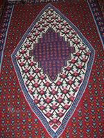 Vibrant Red Persian Carpet