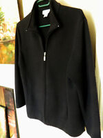Tabi Womens Black Quilted Jacket Size 8-10 Fits larger