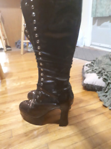 Knee High Size 6.5 Goth Boots