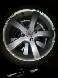 Set of 4 excite ford focus mk1 fiesta mk5 alloy wheels rim with tyre