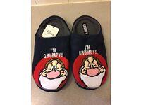 I'm Grumpy Men's slippers From Next brand new size 9 Medium .