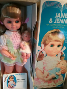 Vintage 70's Musical Jane & Jenny Dolls