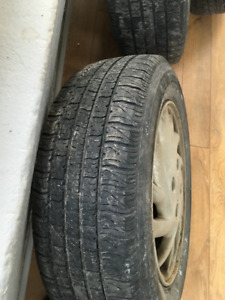 Used All Season Tires On Rims (Motomaster SE2)